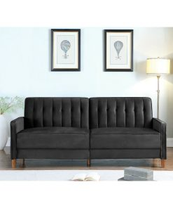 black 2 in 1 couch