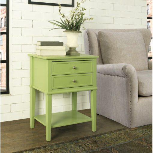 light lemon green end side table