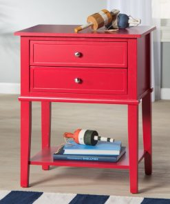 rose red light pink red end side table