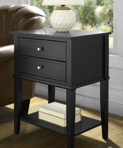 black end side table