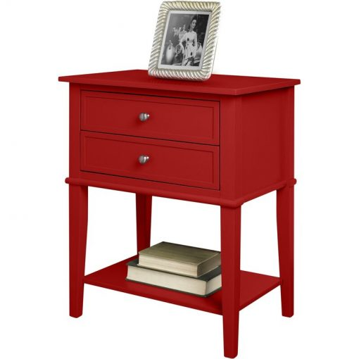 deep red end side table