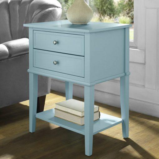 light blue side table