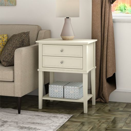 cream side coffee end table
