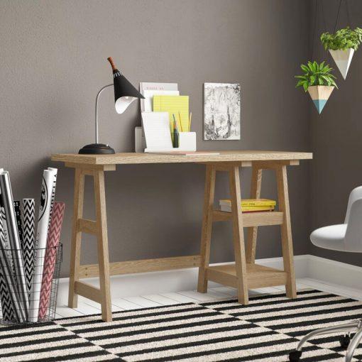 oak coffee computer desk
