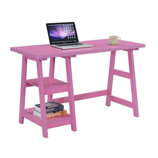 pink computer table office