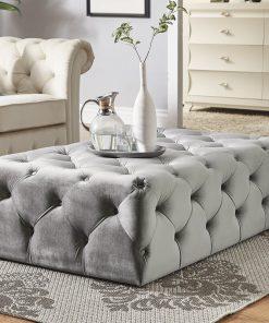 grey gray ottoman coffee center table