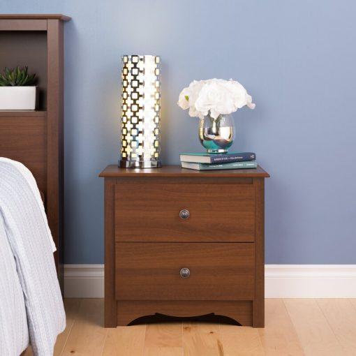 brown nightstand cabinet