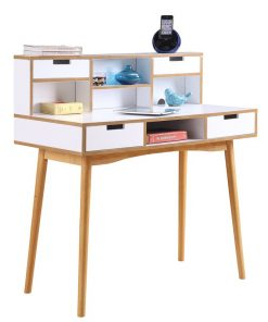 simple computer desk for kids and adults with storage