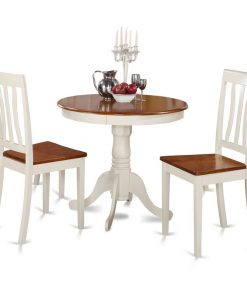 white 2 seat dining table
