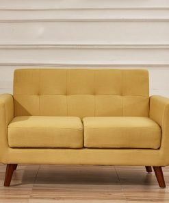 gold yellow couch 2 in 1