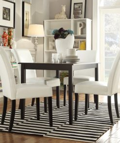 white 4 seater 5 piece dining table set chair