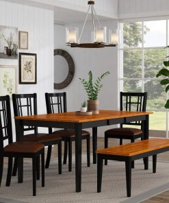 traditional modern dining set 6 piece set