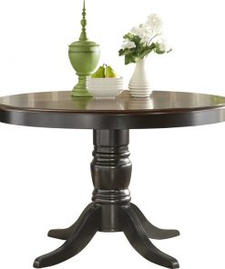 black/ Brown dining table