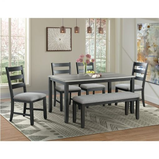 6 piece dining table