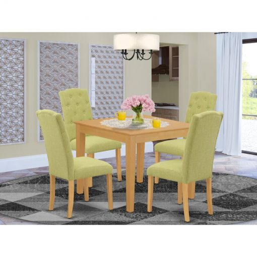 lime green dining table