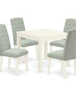 white and gray dining table