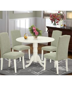 white and grey dining table